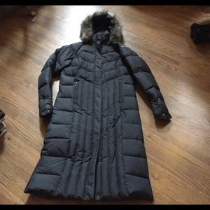 Columbia winter long black puffer coat